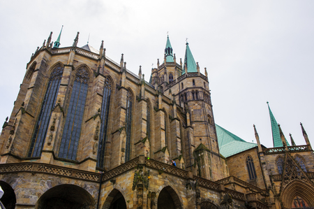 Erfurt Cathedral and Collegiate Church of St Mary, Erfurt, Germany.  Martin Luther was ordained in the cathedral in 1507