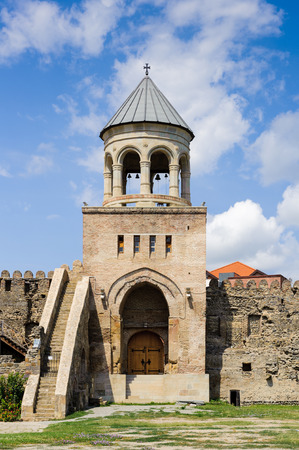 Tower of the Svetitskhoveli Cathedral (Living Pillar Cathedral), a Georgian Orthodox cathedral, Mtskheta, Georgia.