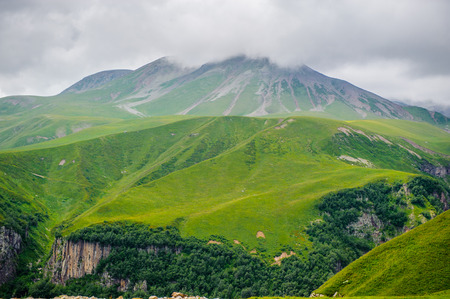 Beautiful nature of the mountains and hill in summer