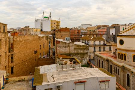 Building in Oran, a coastal city of Algeria