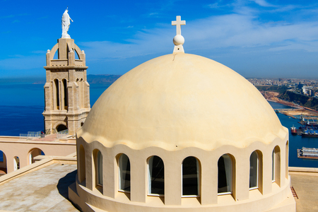 Chapel Santa Cruz fort of Oran, a coastal city of Algeria Stok Fotoğraf - 108962511
