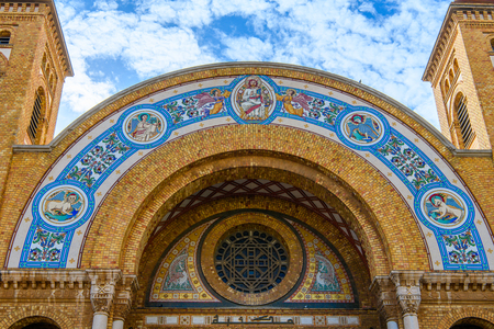 Sacred Heart Cathedral of Oran, a coastal city of Algeria Stok Fotoğraf - 106550997