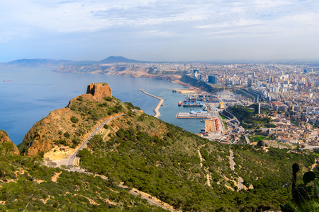 Santa Cruz fort of Oran, a coastal city of Algeria Stok Fotoğraf - 106554658