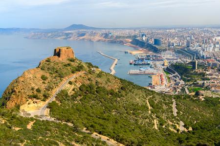 Santa Cruz fort of Oran, a coastal city of Algeria Stok Fotoğraf - 108833970