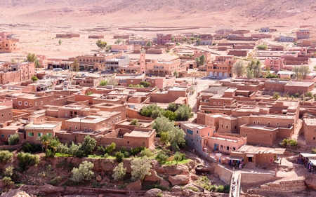 Ruins of Ait Benhaddou, a fortified city, the former caravan way from Sahara to Marrakech. Standard-Bild