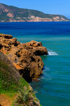 Mediterranean sea coast of Tipasa, a colonia in Roman province Mauretania Caesariensis, nowadays Algeria.