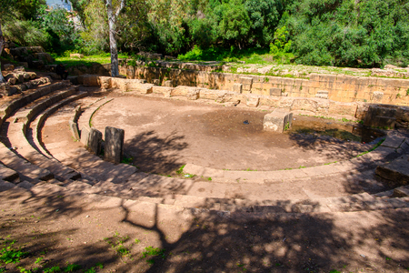 Amphitheater of Tipasa, a colonia in Roman province Mauretania Caesariensis, nowadays Algeria.