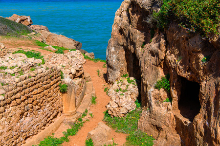 Roman ruins in Tipasa, a colonia in Roman province Mauretania Caesariensis, nowadays Algeria. 版權商用圖片