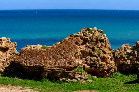 Coast of Tipasa, a colonia in Roman province Mauretania Caesariensis, nowadays Algeria. UNESCO World Heritage Site 版權商用圖片