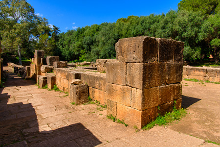 Nature and Roman ruins of Tipasa, a colonia in Roman province Mauretania Caesariensis, nowadays Algeria.