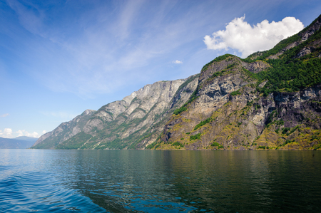 Rocks of the Sognefjord, the third longest fjord in the world