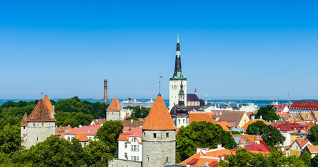 Historic Center (Old Town) of Tallinn, Estonia.