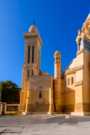 Notre Dame dAfrique (Our Lady of Africa), a Roman Catholic basilica in Algiers, Algeria,