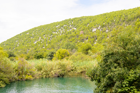 Nature of the Krka National Park in Croatia