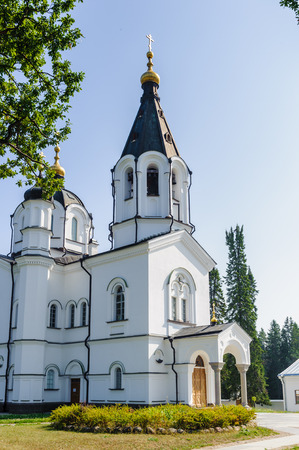 All Saints Church complex on the Valaam (Valamo), an archipelago of Lake Ladoga,Republic of Karelia, Russian Federation. Stock Photo