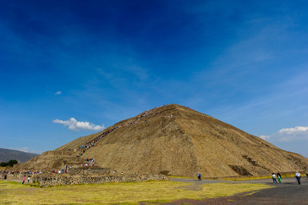 Pyramid of the Sun is the largest building in Teotihuacan and one of the largest in Mesoamerica.