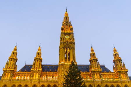 Rathaus, Vienna City Hall, in the evening