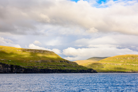 Beautiful nature of Suduroy, the southernmost of the Faroe Islands, autonomous region of the Kingdom of Denmark