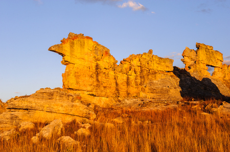 Wierd rock on the sunset in Madagascar Banque d'images