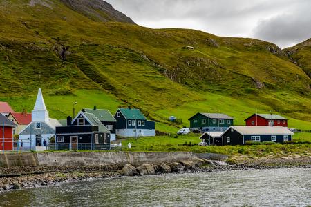 Coast of Suduroy, the southernmost of the Faroe Islands, autonomous region of the Kingdom of Denmark