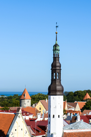 Historical Center of Tallinn, Estonia. Standard-Bild