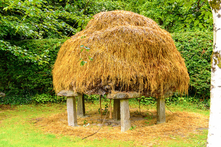 Straw in Bunratty village (End of the Raite river) is an authentic small village in County Clare, Ireland