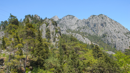 Beautiful landscape of the Taurus mountains in Turkey Stok Fotoğraf