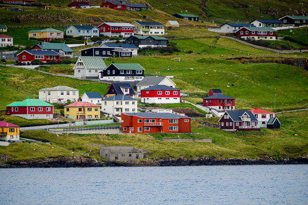 Settlement of Suduroy, the southernmost of the Faroe Islands, autonomous region of the Kingdom of Denmark