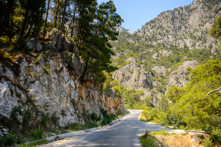 Beautiful landscape of the Taurus mountains in Turkey Stock Photo