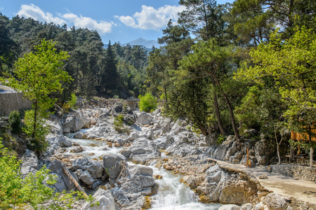 Beautiful view of the mountain river in Turkey Banque d'images - 112548562