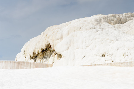 Amazing travertines in Pamukkale (Cotton Castle), Turkey.