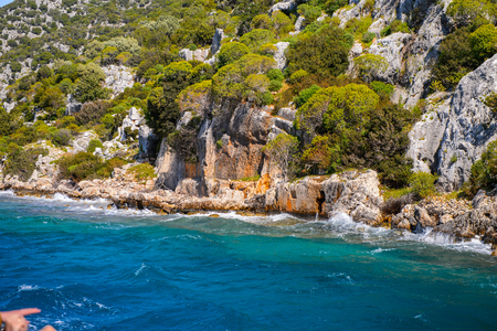 Ruins of the ancient city on the Kekova island,  Turkey 版權商用圖片 - 112665065