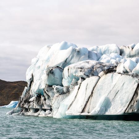 Ice floating in Jokulsarlon, a large glacial lake in southeast Iceland, Vatnajokull National Park Stock fotó