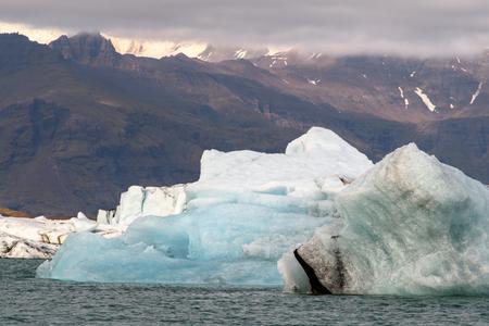 Jokulsarlon, a large glacial lake in southeast Iceland, Vatnajokull National Park 免版税图像