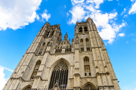 Cathedral of St. Michael and St. Gudula, a Roman Catholic church in Brussels, Belgium