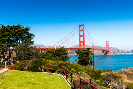 Golden Gate Bridge, San Francisco, California, United States of America 版權商用圖片