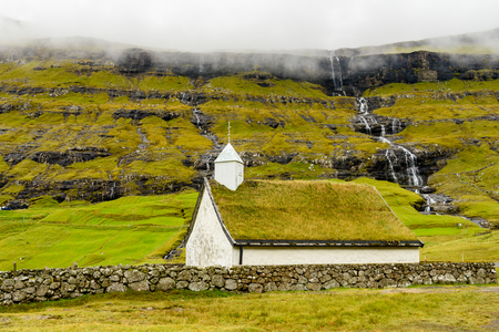 Church of Eysturoy, Faroe Islands, autonomous region of the Kingdom of Denmark