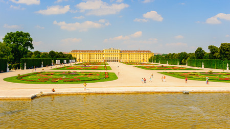 VIENNA, AUSTRIA - JUNE 14: Schonbrunn Palace on June, 17, 2013 in Vienna, Austria. It was a royal residence of Franz Joseph and Elisabeth