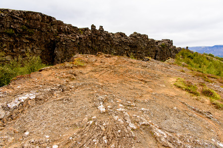 Thingvellir, a national park founded in 1930. Stock Photo