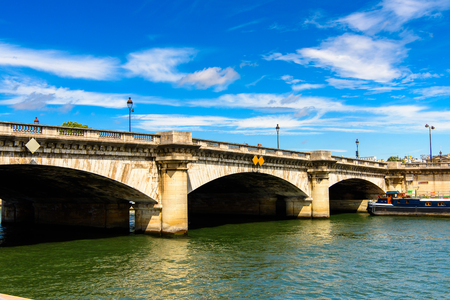 Bridge over the river Seine in Paris, the capital of France.