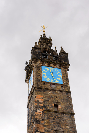 Tolbooth Steeple, the Merchant city of Glasgow, Scotland. Glasgow is the largest city in Scotland