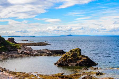 Panorama of the North Sea coast of Scotland