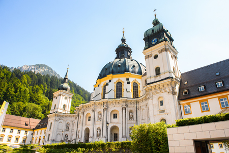 Ettal Abbey (Kloster Ettal) , a Benedictine monastery in the village of Ettal, Bavaria, Germany