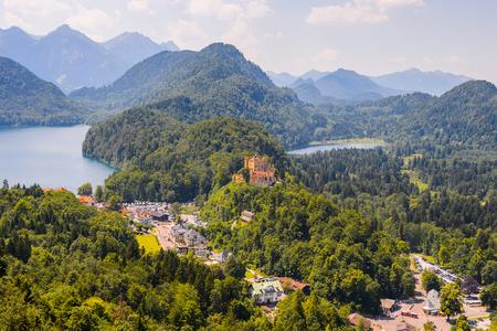 Lake among mountains of Bavaria, Germany Stock fotó