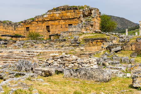 Temple Nymphaeum (3rd century AD), Hierapolis, Pamukkale, Turkey.