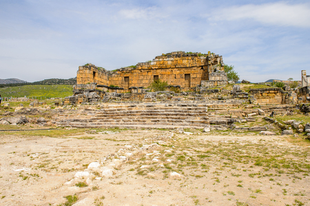Temple Nymphaeum (3rd century AD), Hierapolis, Pamukkale, Turkey Stock Photo