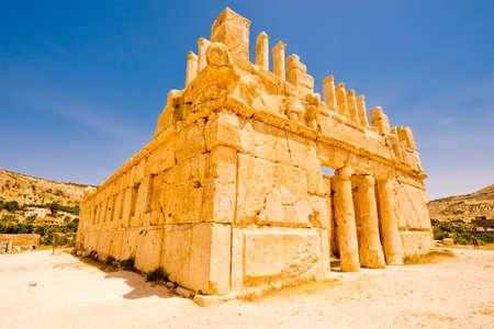 Ruins of the Qasr al Abd, a large ruin in Iraq Al Amir, Jordan. Banque d'images