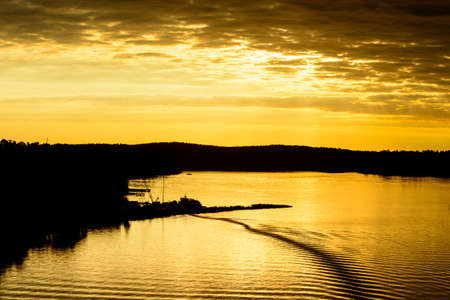 Sun rise over the Baltic sea in Sweden