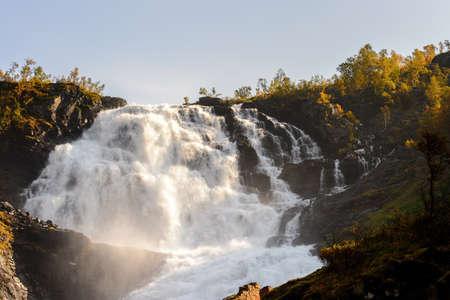 Kjosfossen, incredible waterfall of Norway