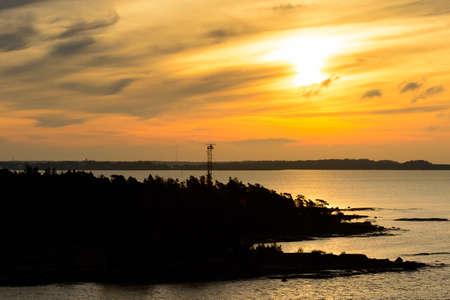 Sunrise over the Baltic sea Banco de Imagens